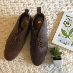 ✨HP✨ ASOS Brown Leather Like Dress Shoes Boots